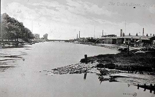 old photo of Dutch River, Goole, Yorkshire