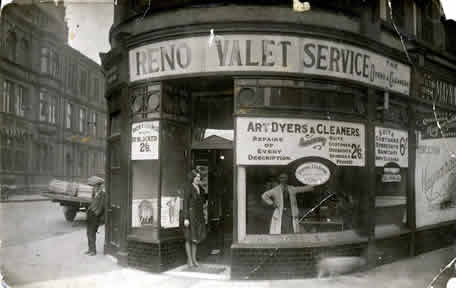 old photo of Reno Valet corner, Boothferry Road, Goole, Yorkshire