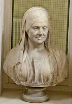 Bust of Mary Shearburn, nee Mitton, of Snaith Hall