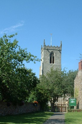 St. Michael's church, Eastrington, East Yorkshire, from village green