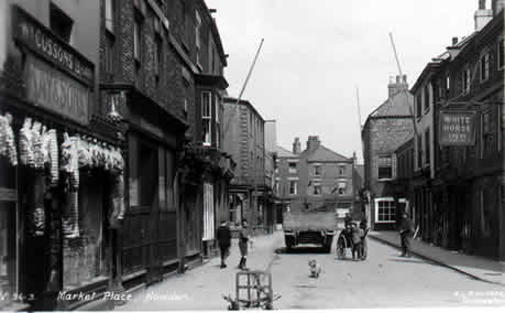 old photo of White Horse, Market Place, Howden, East Yorkshire