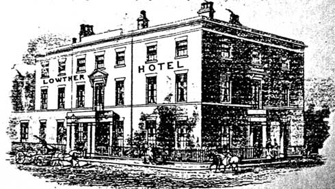 Image of the Lowther Hotel, Goole, from an 1880 billhead