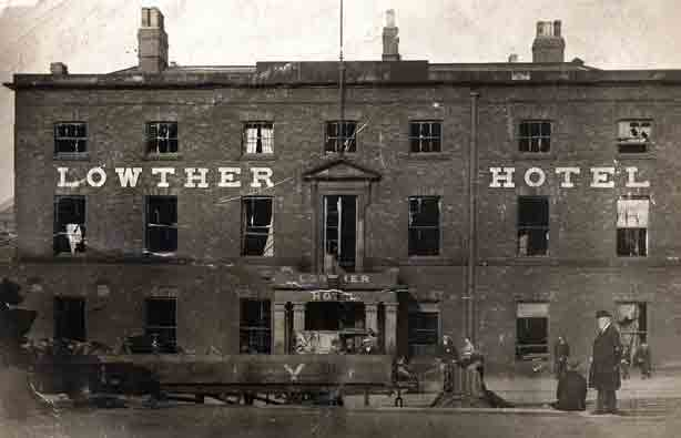 The Lowther Hotel, Goole, after Zeppelin raid of 1915