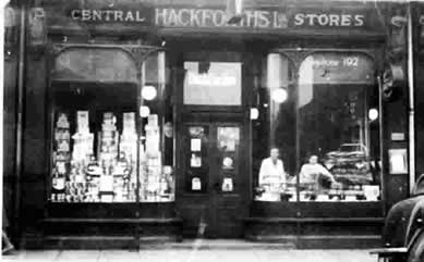 old photo of Hackforth's grocers, Goole, Yorkshire