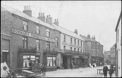 old picture showing Wellington and Bowmans, Bridgegate, Howden