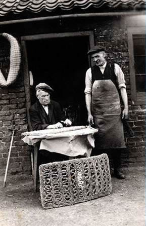 Harry Wiles and Jimmy Ellis, shoemakers, Eastrington, East Yorkshire
